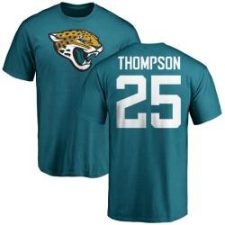 Men's Peyton Thompson Jacksonville Jaguars Name & Number Logo T-Shirt - Teal
