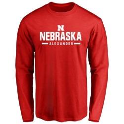 Men's Quayshon Alexander Nebraska Cornhuskers Sport Wordmark Long Sleeve T-Shirt - Scarlet