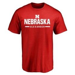 Men's Quayshon Alexander Nebraska Cornhuskers Sport Wordmark T-Shirt - Scarlet