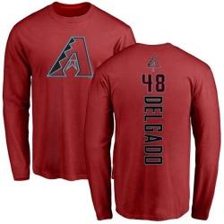 Men's Randall Delgado Arizona Diamondbacks Backer Long Sleeve T-Shirt - Red