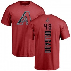 Men's Randall Delgado Arizona Diamondbacks Backer T-Shirt - Red