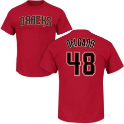 Men's Randall Delgado Arizona Diamondbacks Roster Name & Number T-Shirt - Crimson