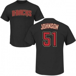 Men's Randy Johnson Arizona Diamondbacks Roster Name & Number T-Shirt - Black