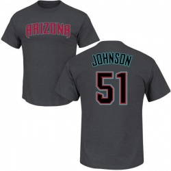 Men's Randy Johnson Arizona Diamondbacks Roster Name & Number T-Shirt - Charcoal