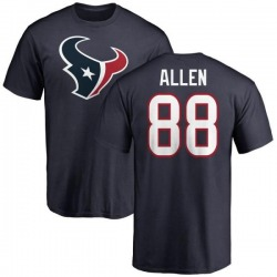 Men's RaShaun Allen Houston Texans Name & Number Logo T-Shirt - Navy
