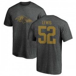 Men's Ray Lewis Baltimore Ravens One Color T-Shirt - Ash