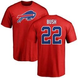Men's Reggie Bush Buffalo Bills Name & Number Logo T-Shirt - Red