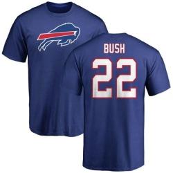 Men's Reggie Bush Buffalo Bills Name & Number Logo T-Shirt - Royal