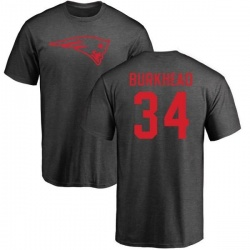 the best attitude ea92e 2fdf4 Men's Rex Burkhead New England Patriots Name & Number Logo T ...