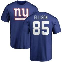 Men's Rhett Ellison New York Giants Name & Number Logo T-Shirt - Royal