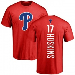 Men's Rhys Hoskins Philadelphia Phillies Backer T-Shirt - Red