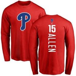 Men's Richie Allen Philadelphia Phillies Backer Long Sleeve T-Shirt - Red