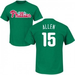 Men's Richie Allen Philadelphia Phillies St. Patrick's Day Roster Name & Number T-Shirt - Green