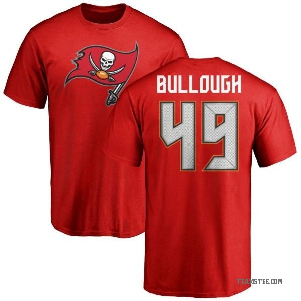 finest selection 21b62 49a2f Men's Riley Bullough Tampa Bay Buccaneers Name & Number Logo T-Shirt - Red  - Teams Tee