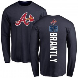 Men's Rob Brantly Atlanta Braves Backer Long Sleeve T-Shirt - Navy