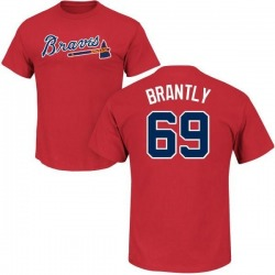 Men's Rob Brantly Atlanta Braves Roster Name & Number T-Shirt - Red