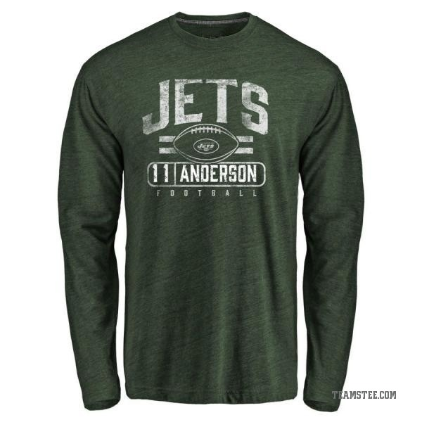 separation shoes 6b5e1 fa855 Men's Robby Anderson New York Jets Flanker Tri-Blend Long Sleeve T-Shirt -  Green - Teams Tee