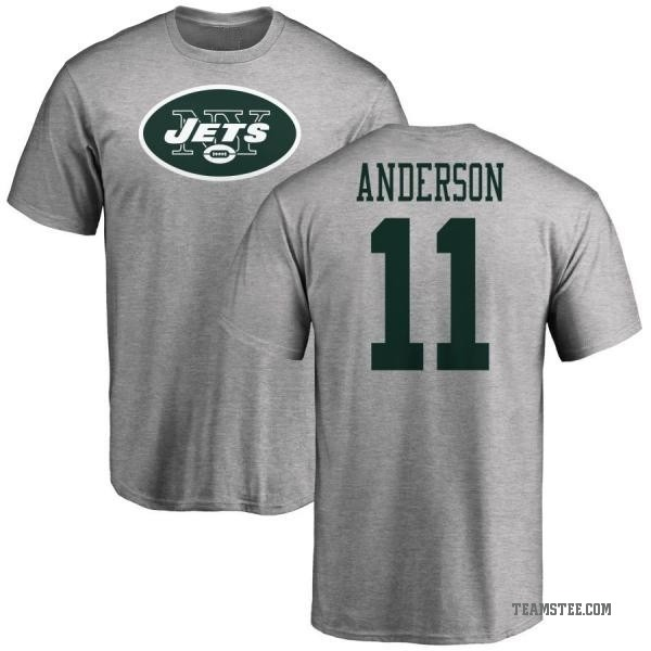 huge discount a1b60 87442 Men's Robby Anderson New York Jets Name & Number Logo T-Shirt - Ash - Teams  Tee