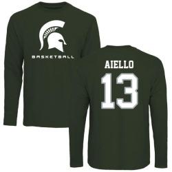 Men's Robert Aiello Michigan State Spartans Basketball Long Sleeve T-Shirt - Green