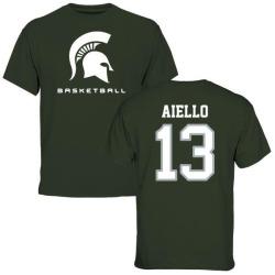 Men's Robert Aiello Michigan State Spartans Basketball T-Shirt - Green