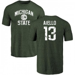 Men's Robert Aiello Michigan State Spartans Distressed Basketball Tri-Blend T-Shirt - Green
