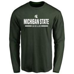 Men's Robert Aiello Michigan State Spartans Sport Wordmark Long Sleeve T-Shirt - Green