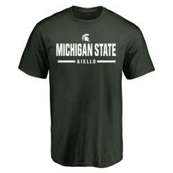 Men's Robert Aiello Michigan State Spartans Sport Wordmark T-Shirt - Green