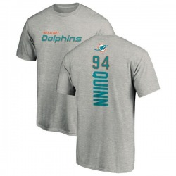 Men's Robert Quinn Miami Dolphins Backer T-Shirt - Ash