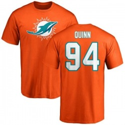 Men's Robert Quinn Miami Dolphins Name & Number Logo T-Shirt - Orange