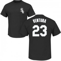 Men's Robin Ventura Chicago White Sox Roster Name & Number T-Shirt - Black