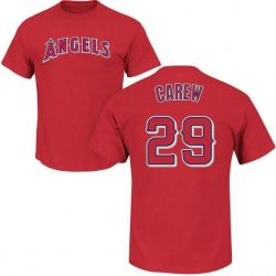 Men's Rod Carew Los Angeles Angels Roster Name & Number T-Shirt - Red