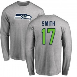 Men's Rodney Smith Seattle Seahawks Name & Number Logo Long Sleeve T-Shirt - Ash