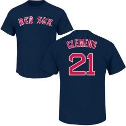 Men's Roger Clemens Boston Red Sox Roster Name & Number T-Shirt - Navy