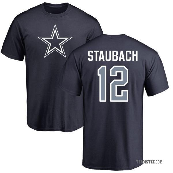 a32397dd1d2 Men's Roger Staubach Dallas Cowboys Name & Number Logo T-Shirt - Navy