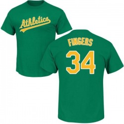 Men's Rollie Fingers Oakland Athletics Roster Name & Number T-Shirt - Green