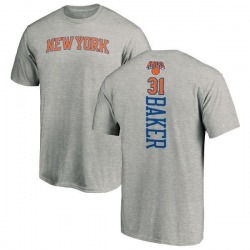 Men's Ron Baker New York Knicks Ash Backer T-Shirt