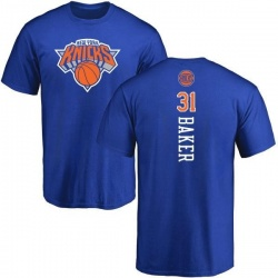 Men's Ron Baker New York Knicks Royal Backer T-Shirt
