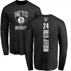 Men's Rondae Hollis-Jefferson Brooklyn Nets Black Backer Long Sleeve T-Shirt