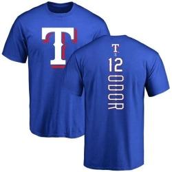 Men's Rougned Odor Texas Rangers Backer T-Shirt - Royal