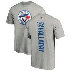 Men's Roy Halladay Toronto Blue Jays Backer T-Shirt - Ash