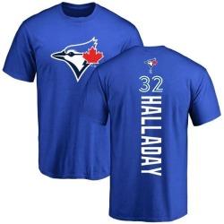 Men's Roy Halladay Toronto Blue Jays Backer T-Shirt - Royal