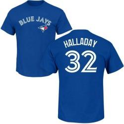 Men's Roy Halladay Toronto Blue Jays Roster Name & Number T-Shirt - Royal