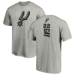 Men's Rudy Gay San Antonio Spurs Ash Backer T-Shirt