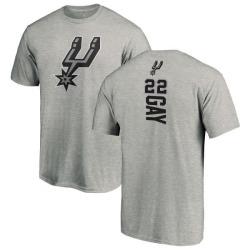 Men's Rudy Gay San Antonio Spurs Ash Backer T-Shirt