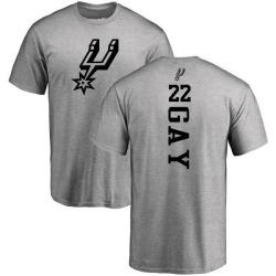 Men's Rudy Gay San Antonio Spurs Heathered Gray One Color Backer T-Shirt