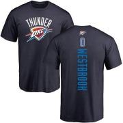 Men's Russell Westbrook Oklahoma City Thunder Navy Backer T-Shirt