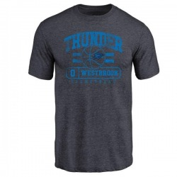 Men's Russell Westbrook Oklahoma City Thunder Navy Baseline Tri-Blend T-Shirt