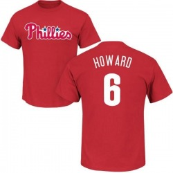 Men's Ryan Howard Philadelphia Phillies Roster Name & Number T-Shirt - Red