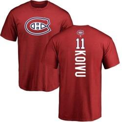 Men's Saku Koivu Montreal Canadiens Backer T-Shirt - Red