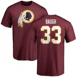Men's Sammy Baugh Washington Redskins Name & Number Logo T-Shirt - Maroon